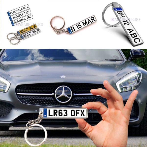 Breloc personalizat cu număr auto, la cel mai mic preţ