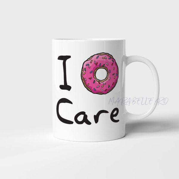 Cană cadou pentru bărbaţi - I Donut Care