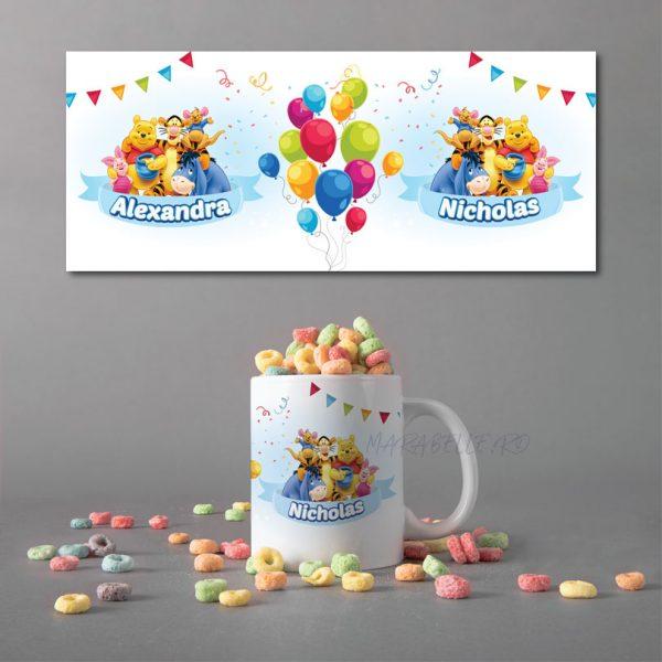 Cană personalizată cu Winnie the Pooh