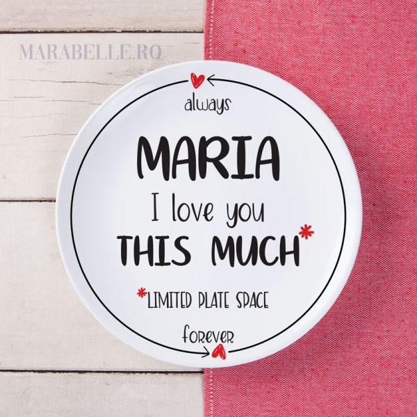 Farfurie personalizată I Love You This Much