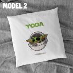 Pernă personalizată cu Yoda