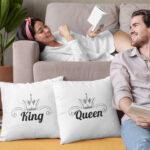 Perne King and Queen pentru cupluri
