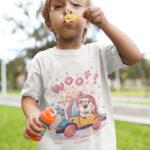 Tricou pentru copii cu Căţeluşul WOOF