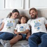 Tricouri personalizate pentru familie cu Strumfi