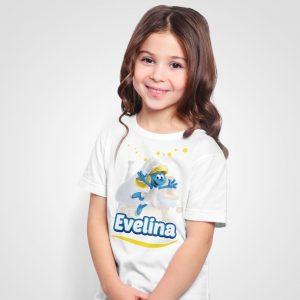 Tricouri cu Strumfi personalizate pentru copii