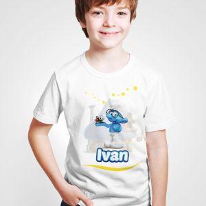 Tricouri personalizate pentru copii, cu Strumfi.