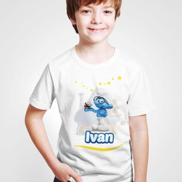 Tricouri personalizate pentru copii, cu Strumfi