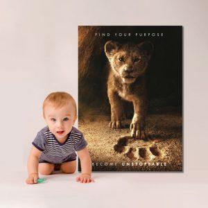 Tablou Canvas cu Simba pentru copii