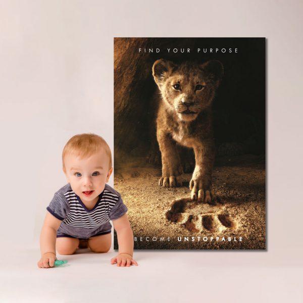 Tablou Canvas cu Simba, pentru copii