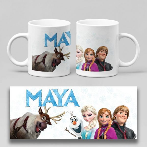 Cană personalizată cu Frozen, disponibilă în 6 variante