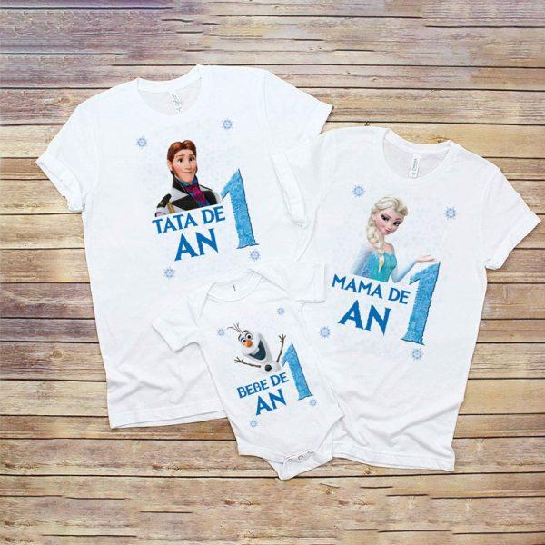 Tricouri aniversare 1 an cu Frozen