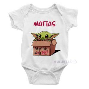 Body personalizat cu nume, Yoda - Adopt This Jedi