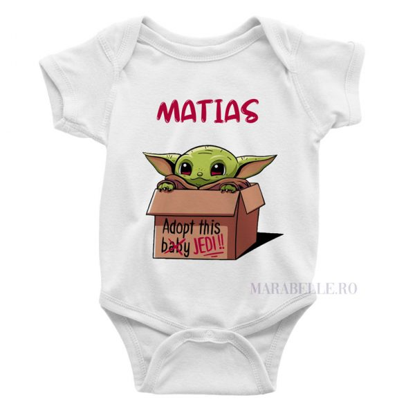Body personalizat Yoda - Adopt This Jedi