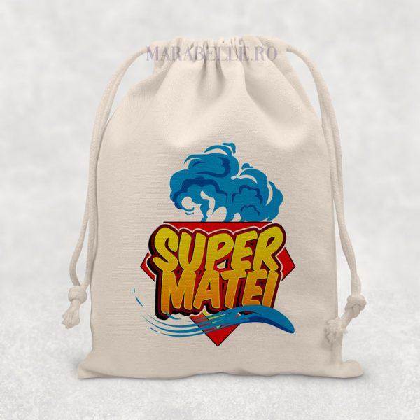 Săculeţ Super Erou personalizat cu nume
