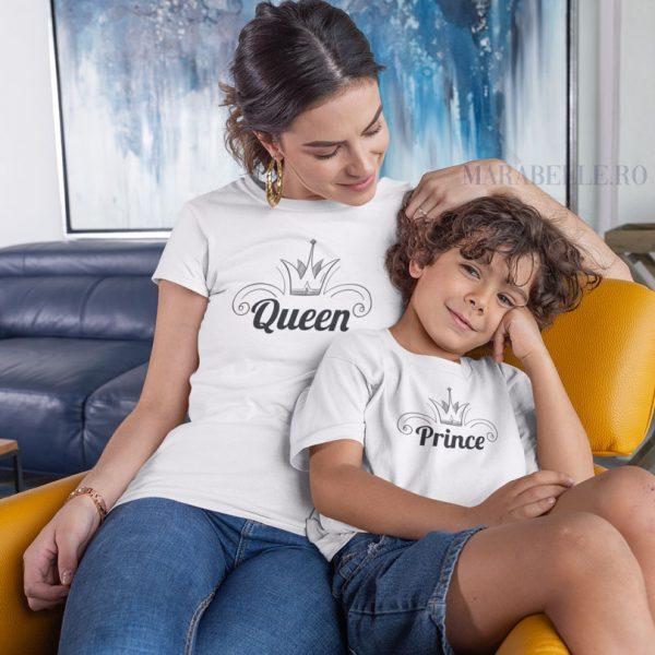 Set de 3 tricouri King, Queen And Prince