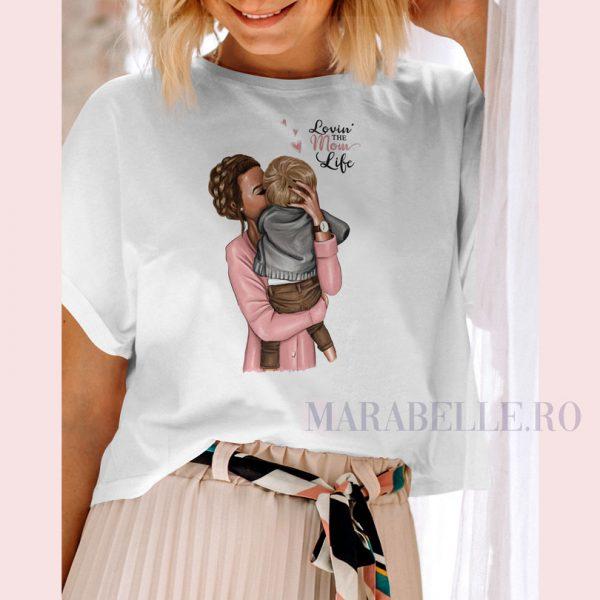 Tricou din colecţia Super Mama, Lovin' the Mom Life