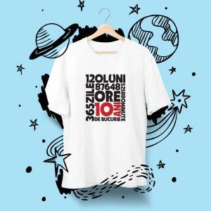 Tricou pentru aniversare de 10 ani, pentru copii