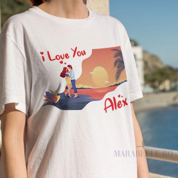 Set de Tricouri I Love You, personalizate cu nume