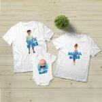 Set de tricouri cu Boss Baby personalizabile şi pentru tăiere de moţ