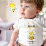 Set de tricouri cu albinuţă, personalizabile şi pentru tăiere de moţ