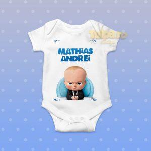 Body cu Boss Baby, personalizat cu nume