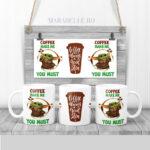 Cana pentru cafea cu Yoda