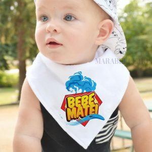 Eşarfă personalizată pentru bebeluşi, Super Bebe