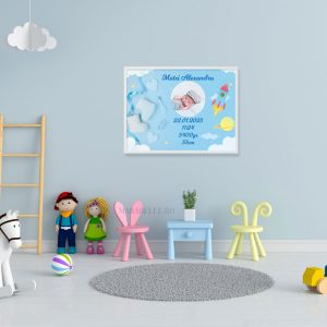 Poster cadou personalizat pentru camera bebeluşului