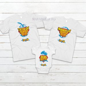Set de 3 tricouri Super Bebe pentru tăiere de moţ