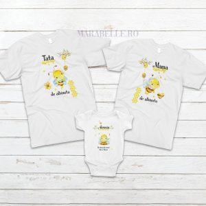 Set de tricouri personalizate cu albinuta