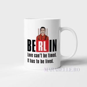 Cană cu Berlin din La Casa de Papel personalizată cu nume