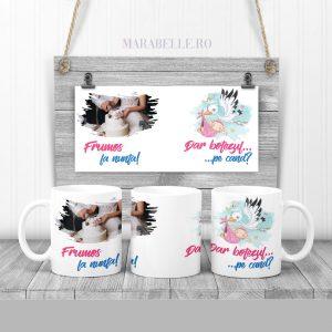 Cană cadou pentru fini, personalizată cu poză şi mesaj