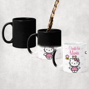 Cană termosensibilă cu Hello Kitty