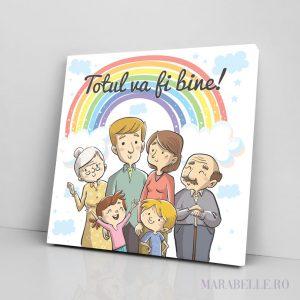 Tablou Canvas personalizat pentru familie