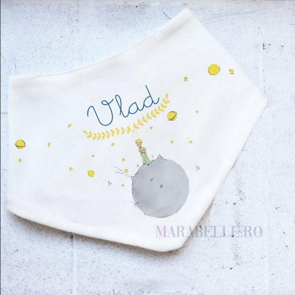 Eşarfă cu Micul Prinţ, personalizată cu nume