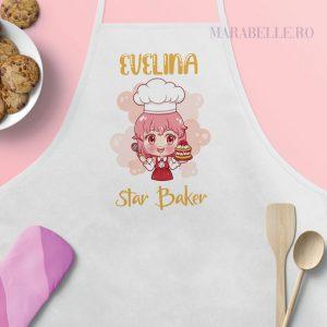 Şorţ personalizat pentru fetiţe Star Baker, 5 variante