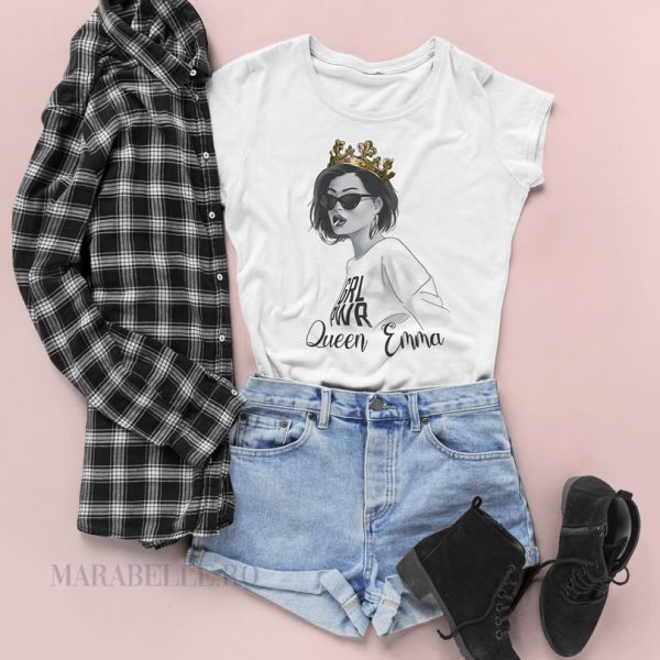 Tricou Queen personalizat cu nume, pentru femei