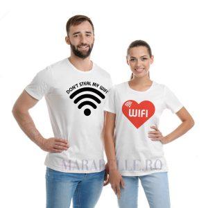 Tricouri de Valentines pentru cupluri, Don't Steal My WIFI