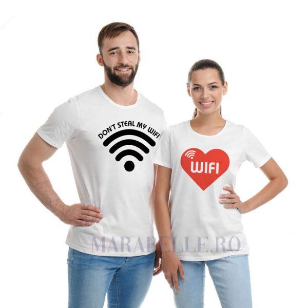 Tricouri pentru cupluri, Don't Steal My WIFI