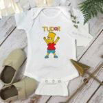 Body bebeluşi personalizat cu Bart