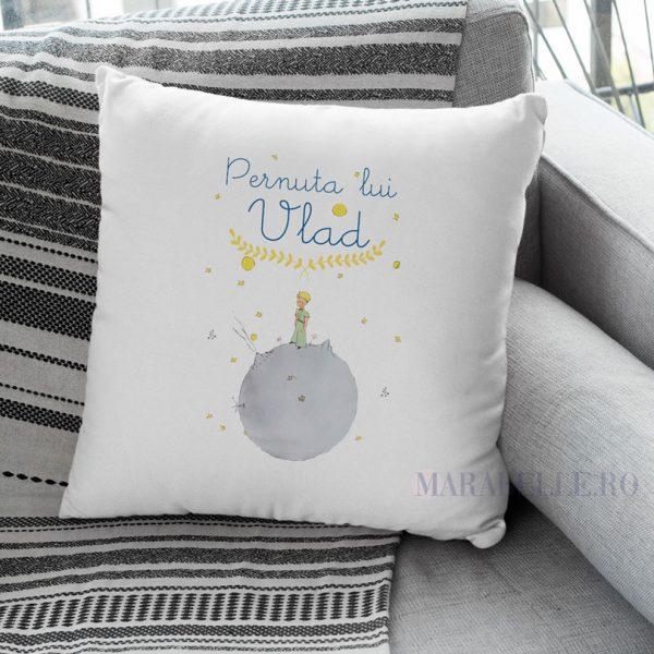 Pernă cu Micul Prinţ pentru copii, personalizată cu nume