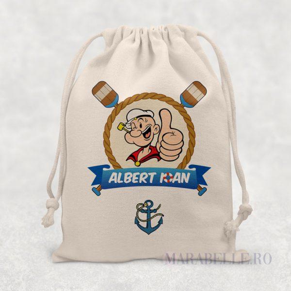 Sacoşică personalizată cu Popeye Marinarul