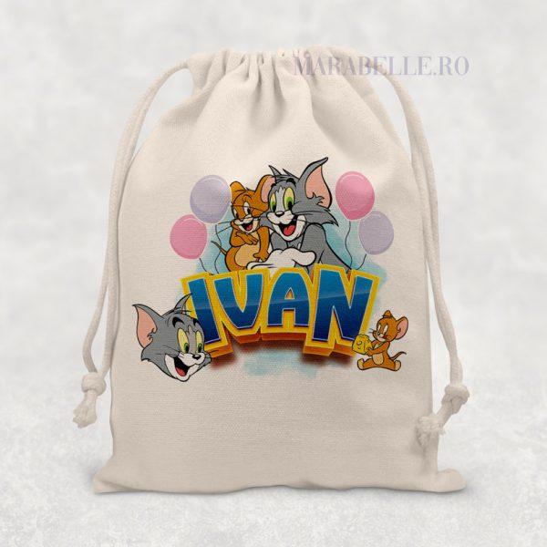 Săculeţ cadou personalizat cu Tom & Jerry
