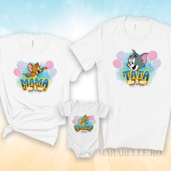 Tricouri Tom şi Jerry personalizate pentru aniversări