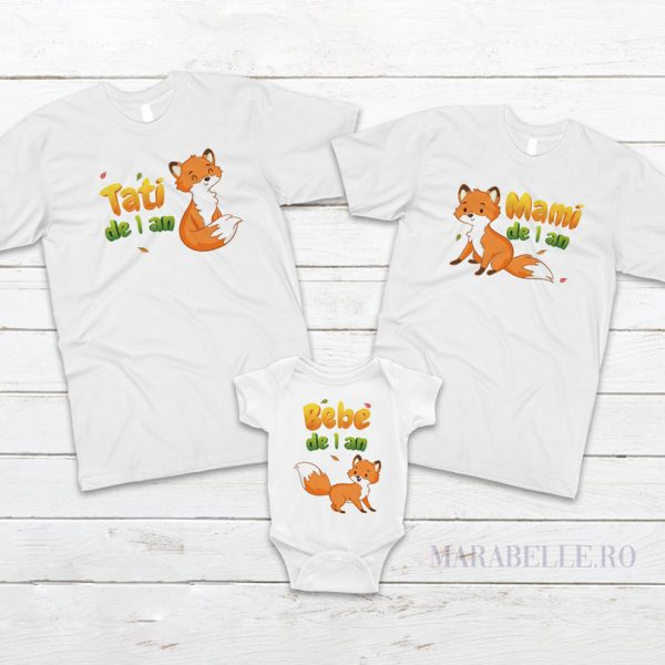 Set tricouri personalizate cu vulpiţe pentru aniversări
