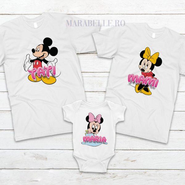 Set de tricouri cu Mickey Mouse pentru aniversări