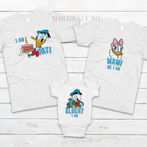 Set de tricouri cu Donald şi Daisy Duck pentru aniversări