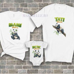 Set personalizat de tricouri cu body Panda