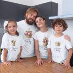 Set de 4 tricouri cu tematica Royal, personalizate cu nume