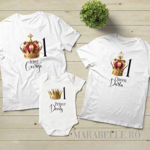 Set pentru tăiere de moţ, 2 tricouri şi body cu tematica Royal